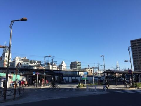 土曜日の朝10時半頃のJR金町駅南口の様子