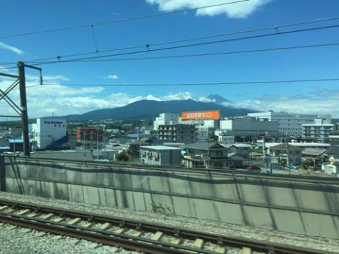 新幹線から見えた今日の富士山-2016年8月16日