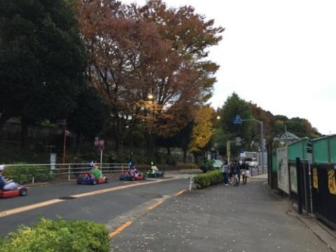 上野公園周辺道路でマリオカートが開催されていた