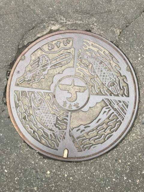 北海道千歳市のマンホールの蓋