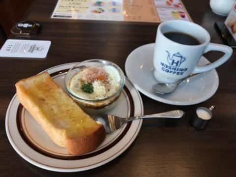 星乃珈琲店朝霞店の500円のエッグスラットモーニングが安くておいしい
