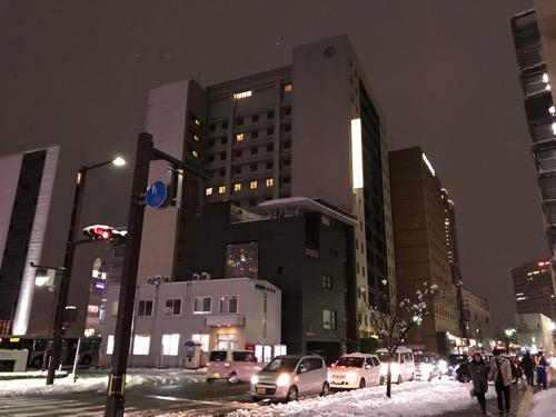 天然温泉 加賀の湧泉 ドーミーイン金沢の外観(夜)
