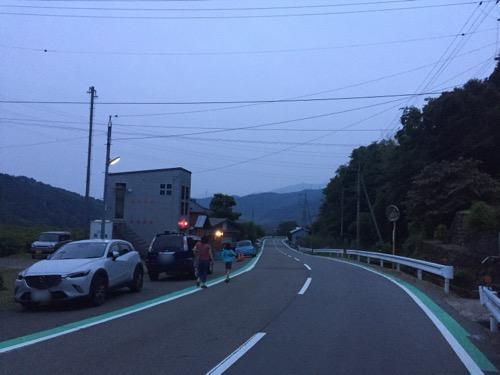 愛媛県東温市河之内の国道494号沿いの音田消防詰所付近