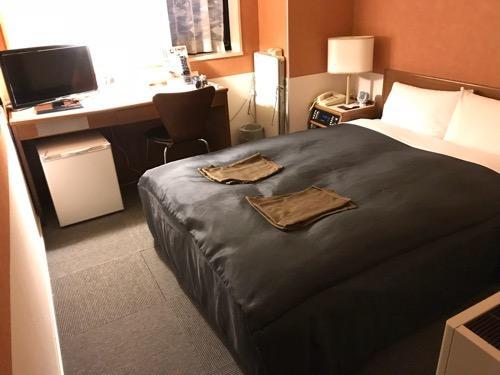 新潟第一ホテルのダブルベッド
