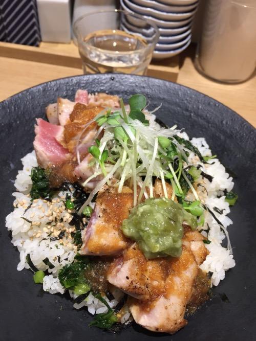 鮪ステーキ丼-東京都港区新橋・きたかた食堂