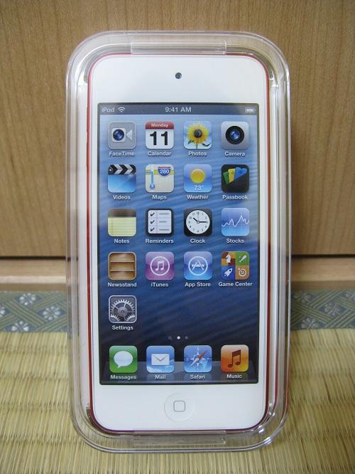 刻印入りiPod touch 32GB - (PRODUCT) REDの写真……iPod Touchの液晶がある側