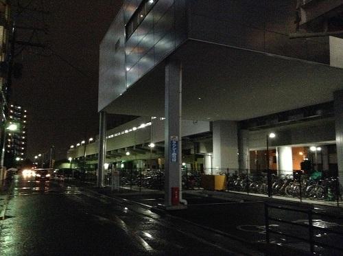 JR新水前寺駅と駅前の道路