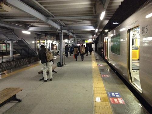 JR熊本駅普通列車用のホーム