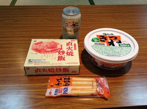 小倉・松山フェリーで食べる晩御飯