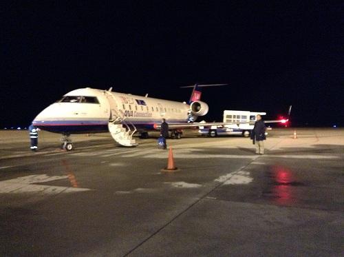 飛行機「ANA 3138便」(広島空港にて)