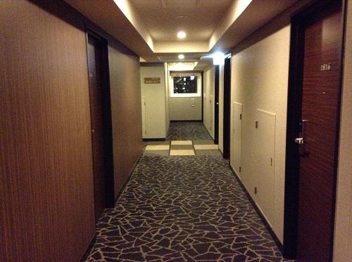 アパヴィラホテル 仙台駅五橋の廊下