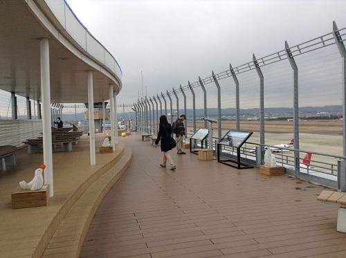 仙台空港の展望デッキ