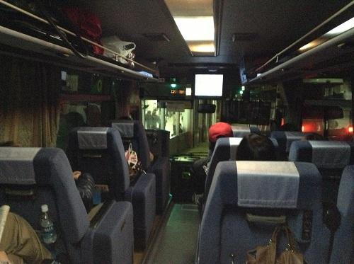 西鉄バス・長崎行のバスの車内