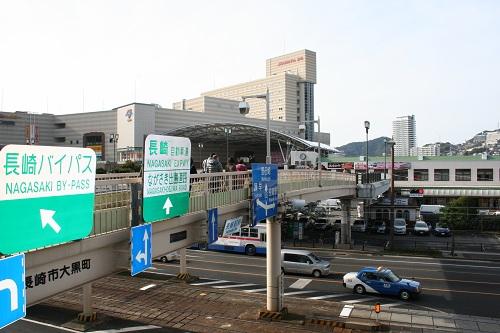 長崎駅前の陸橋