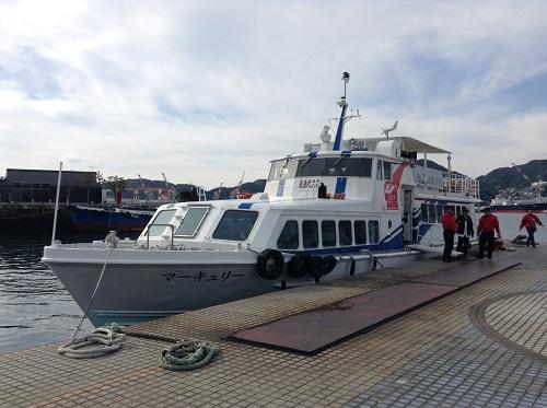 マーキュリー(軍艦島上陸・周遊ツアー船)
