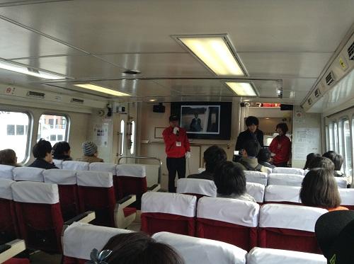 マーキュリー(軍艦島上陸・周遊ツアー船)の船内