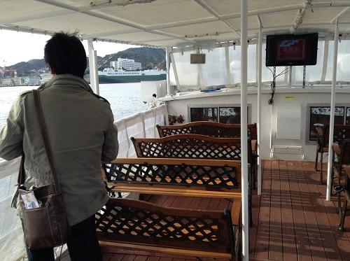 マーキュリー(軍艦島上陸・周遊ツアー船)の船上