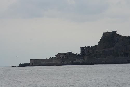 端島(軍艦島)の船着き場付近