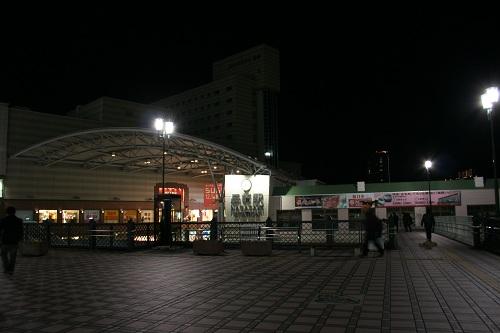 夜のJR長崎駅(陸橋より)