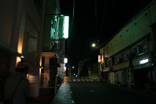 レオプラザホテル佐世保前の道路