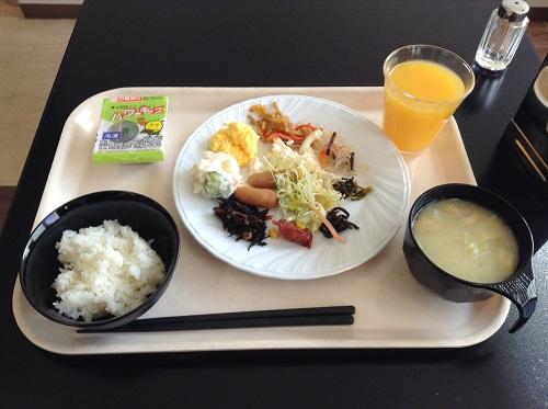 ビジネスホテル「エクストールイン 熊本水前寺」の朝食