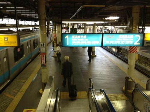 JR蒲田駅 京浜東北線1番ホーム・2番ホーム
