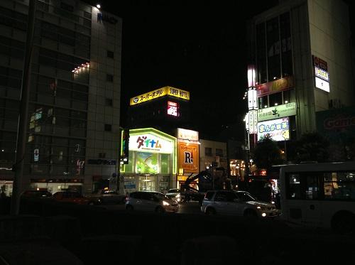 JR新小岩駅南口から見える新小岩ルミエール商店街