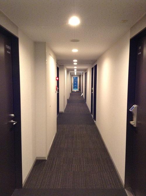スーパーホテル東京・JR新小岩の客室前廊下