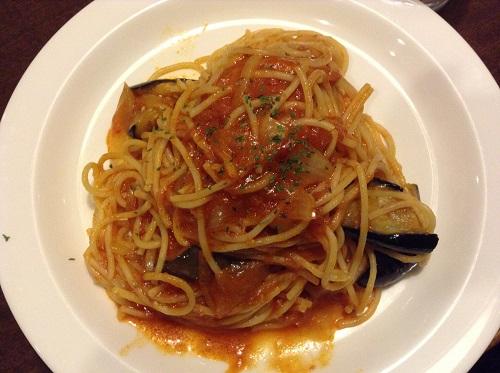Cafe GRATO(カフェグラート)(愛媛県松山市余戸東5丁目3-7)の茄子のアラビアータ