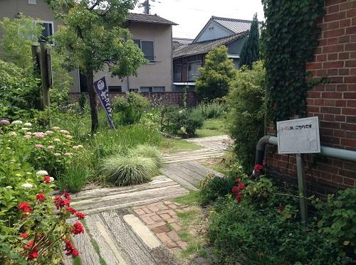 おおず赤煉瓦館(愛媛県大洲市大洲60番地)の庭
