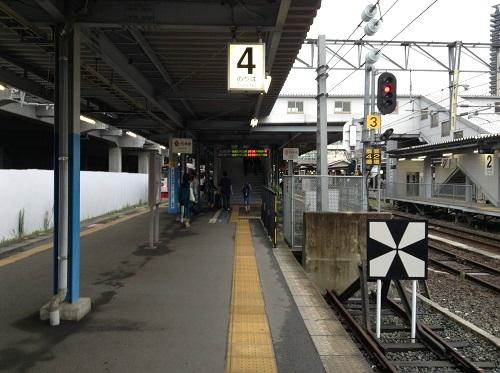JR熊本駅4番ホーム