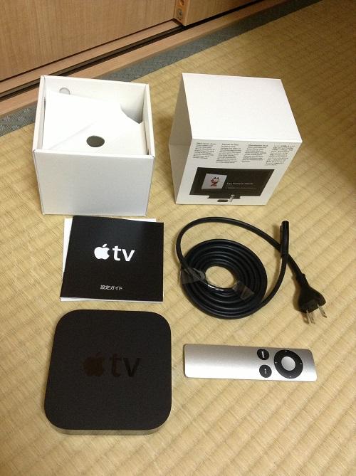 Apple TV MD199J/Aの箱とその中身
