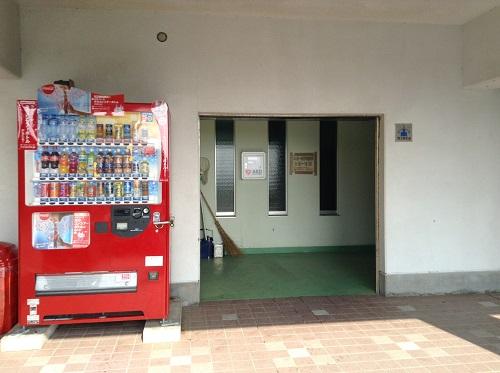 五色姫海浜公園(愛媛県伊予市尾崎)の更衣室入口