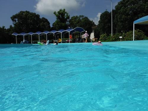 南レクジャンボプール(愛媛県南宇和郡愛南町御荘平城728)の流れるプール水面付近