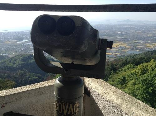 えひめ森林公園 谷上山第2展望台に設置されている双眼鏡(COVAC B345)