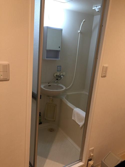 ホテルリッチ(広島県広島市安佐北区可部2-36-1)のツインルームにある浴室(お風呂)
