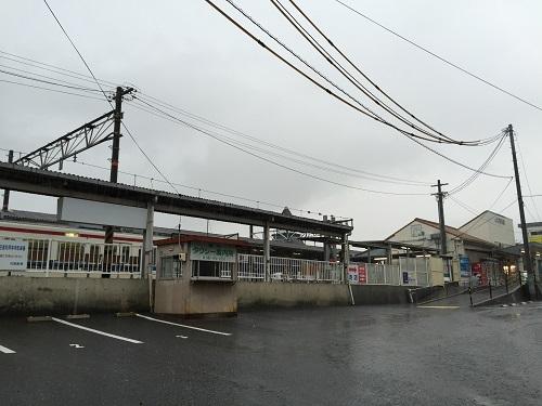 JR可部駅のタクシー案内所前