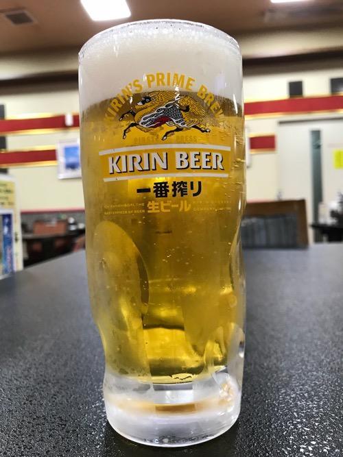 ホテルゆめのゆの生ビール(キリン)