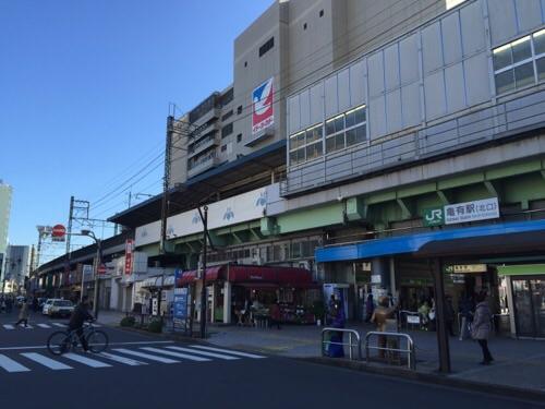 JR亀有駅北口側の亀有駅の駅舎の様子