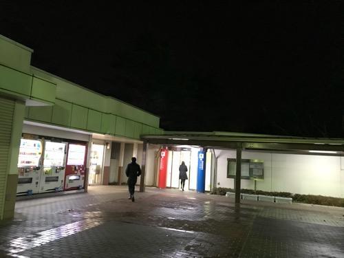東北自動車道・福島松川(パーキングエリア)のトイレ入口