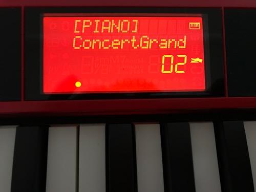 Roland Go:Keysの液晶画面(ペダルありの場合)