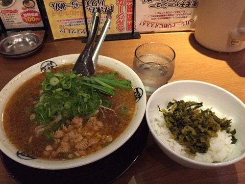 藤一番 錦店の名古屋名物台湾ラーメンと高菜丼