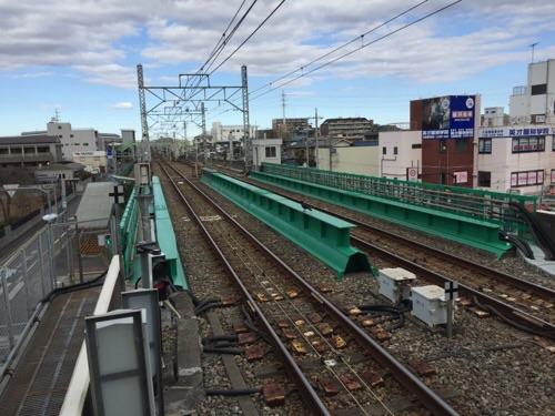 東京メトロ千代田線北綾瀬駅の終端から眺めた風景
