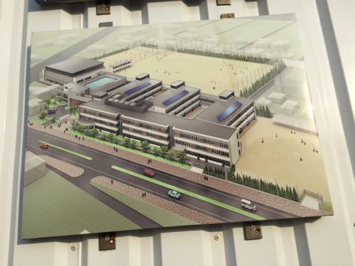 建設中の余土中学校の新校舎等の完成イメージ図(愛媛県松山市保免西4丁目810-1)