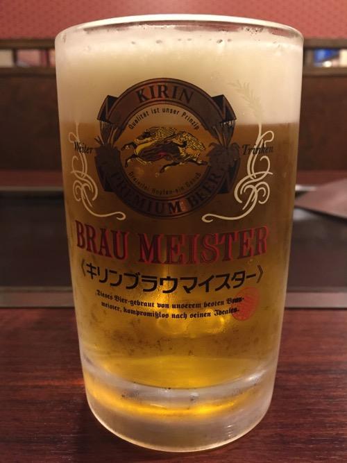 お多福 北千住店の生ビール「キリン ブラウマイスター」(ジョッキ)