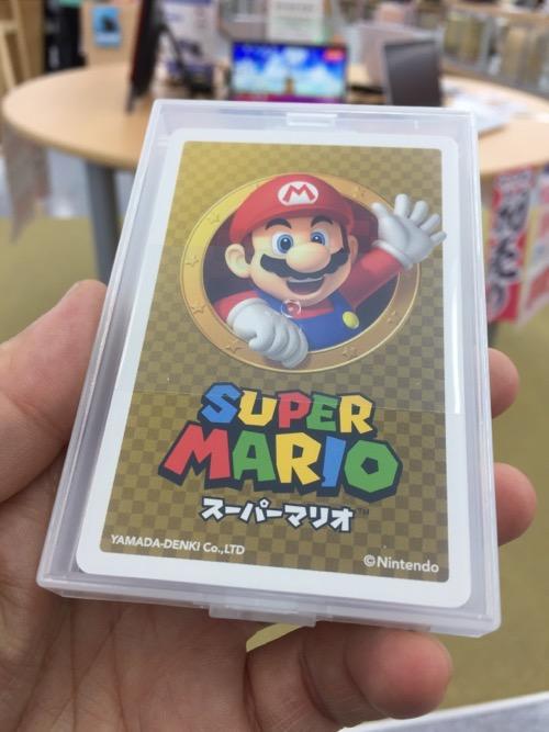 ヤマダ電機 テックランドNew松山問屋町本店で配布されたスーパーマリオのトランプ