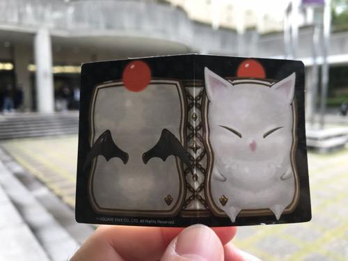 ファイナルファンタジーのミニオン メタルチャームの箱に入っていたモーグリが描かれている紙