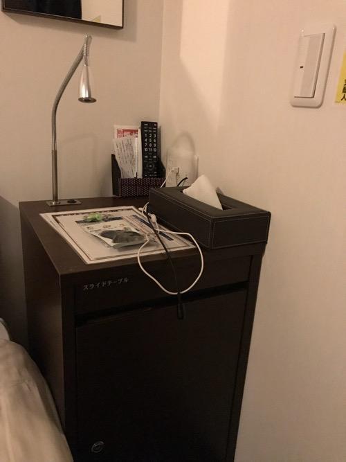 ホテルゆめのゆ エコノミーシングル(簡易宿泊)の室内の机