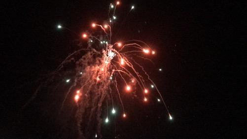 2017年愛媛県伊予郡松前町の花火大会フィナーレの花火