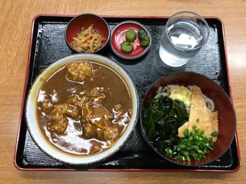 うどん四国大名のカレー丼スペシャル(うどんは冷)
